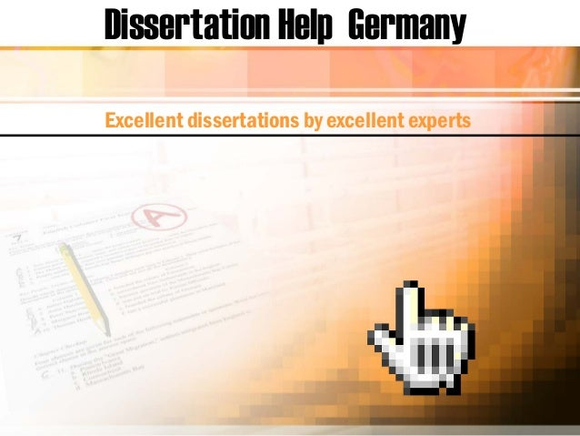 Dissertation Help Germany