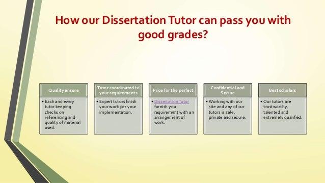 Dissertation help tutors