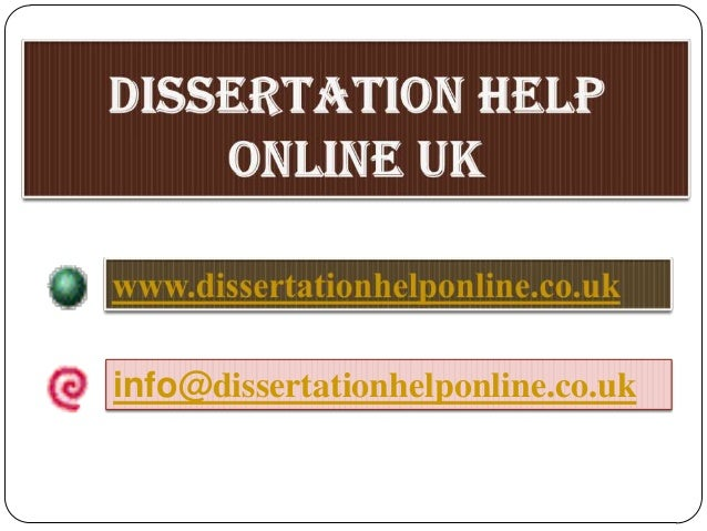 Dissertation services in uk help