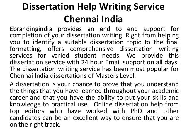 Dissertation Help Chennai Silks - Dissertation writing