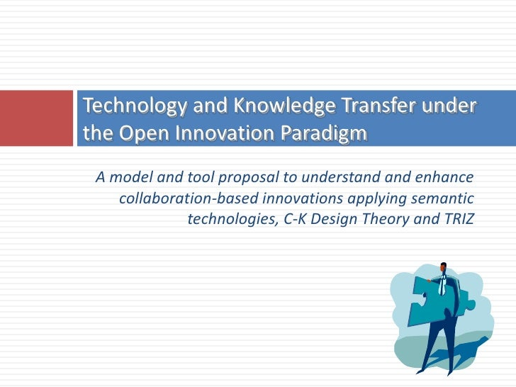 Technology and Knowledge Transfer under the Open Innovation Paradigm  A model and tool proposal to understand and enhance ...