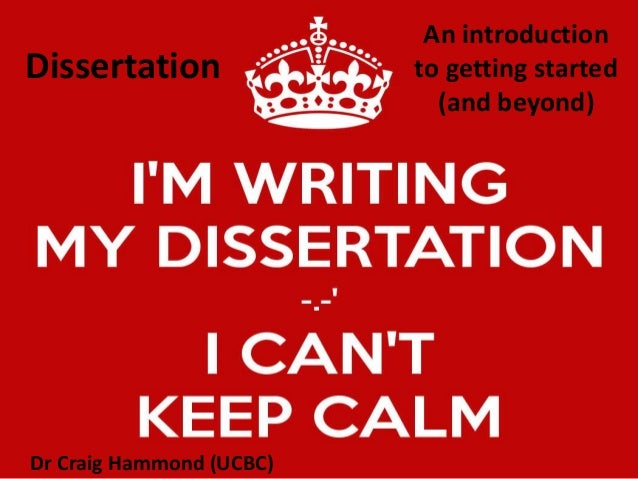 Dissertation thesis writing an introduction