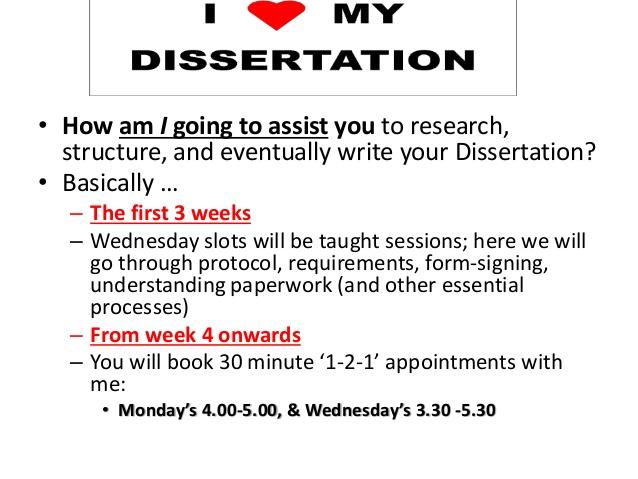 Writing my dissertation in a week