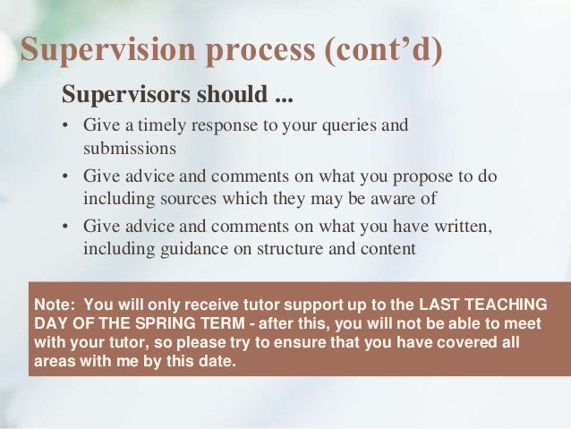 dissertation supervisor problems Planning and conducting a dissertation the role of the supervisor although a dissertation is an opportunity planning and conducting a dissertation.