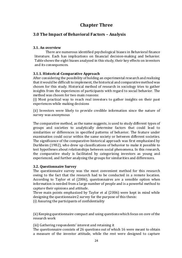 Dissertation topics on behavioural finance