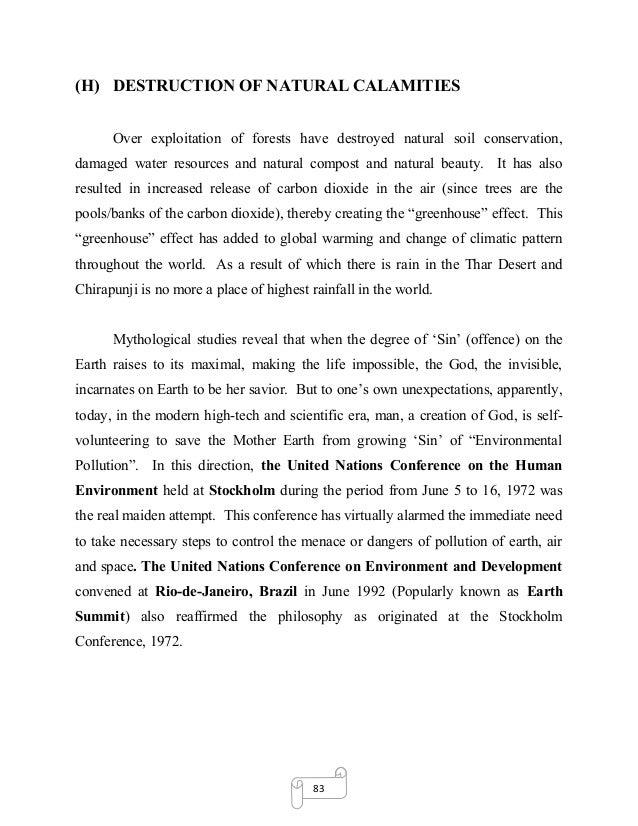 Environment preservation essay