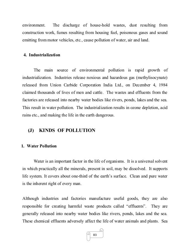 dissertation on environmental pollution and global warming