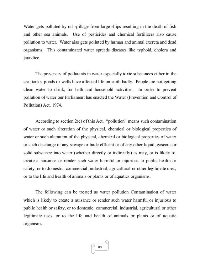 dissertation on environmental pollution and global warming  sea 26 83 water gets polluted
