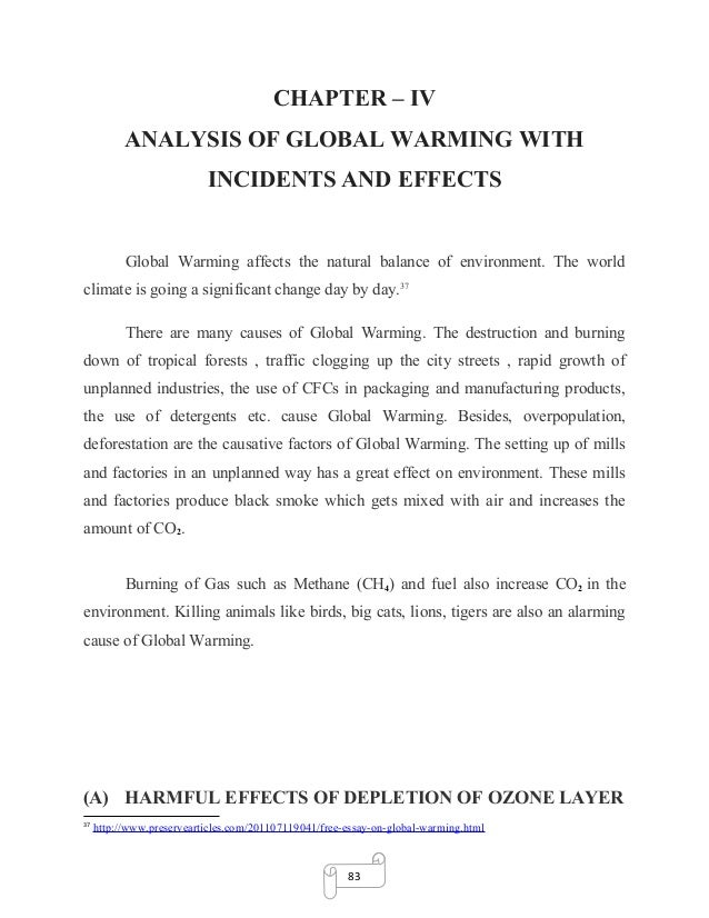 Argumentative essay on global warming