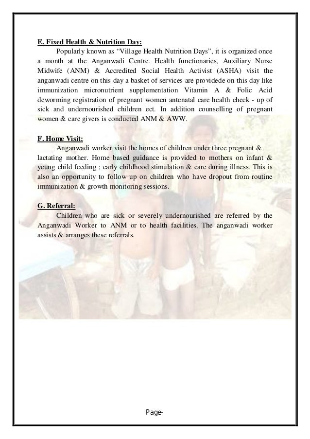 thesis on anganwadi workers