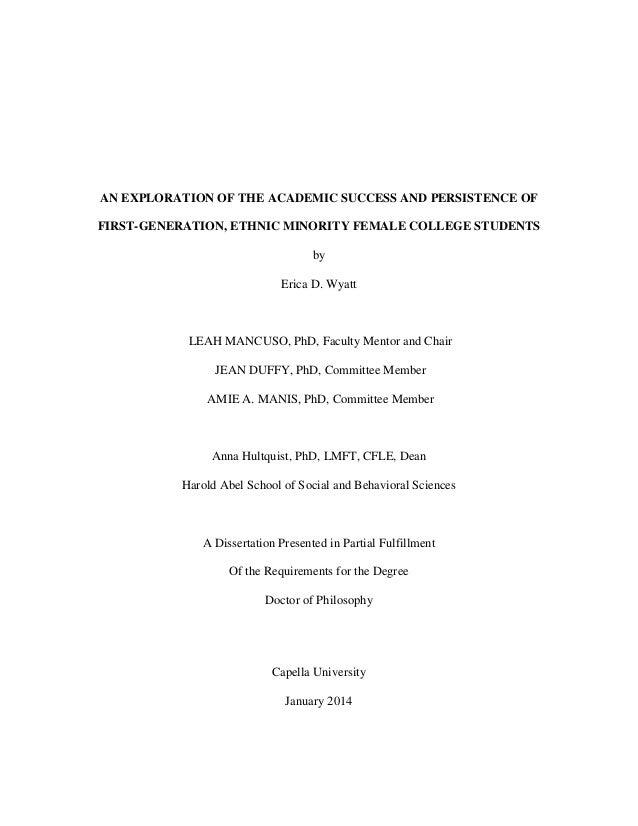 Dissertation material u of m general college ctad