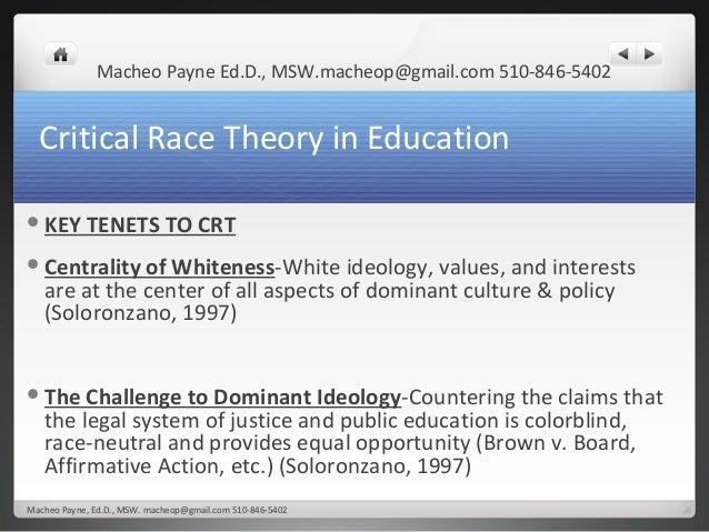dissertation critical race theory tenets