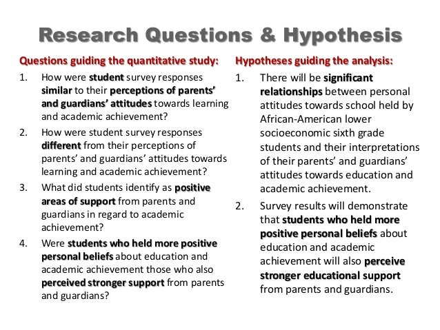 Research hypothesis and research question in childhood obesity