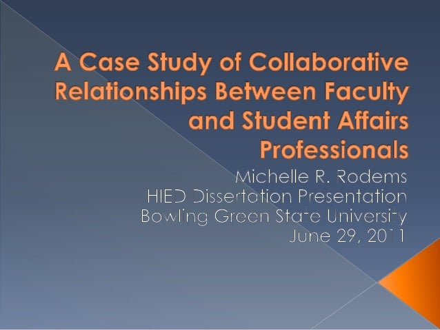  Examine the collaborative relationships of  faculty and student affairs professionals co-  teaching to help students lea...