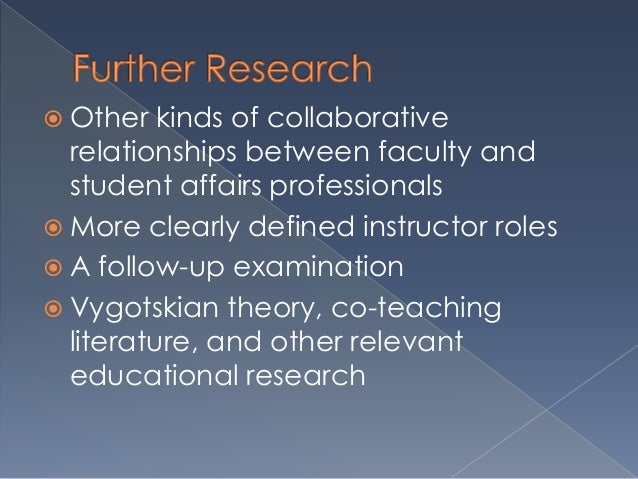 Collaborative Teaching Goals ~ A case study of collaborative relationships between