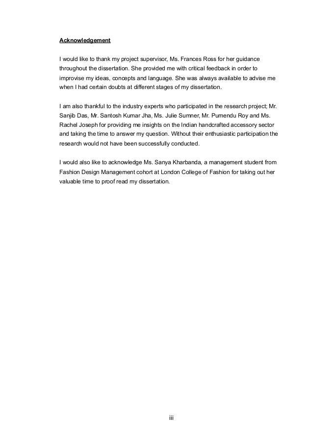 London college of fashion dissertations