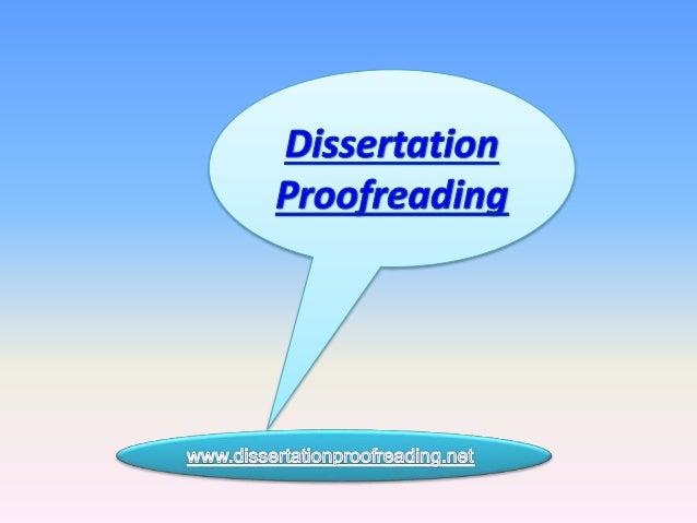 Dissertation proofreaders