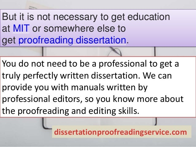 Dissertation proofreading service checklist