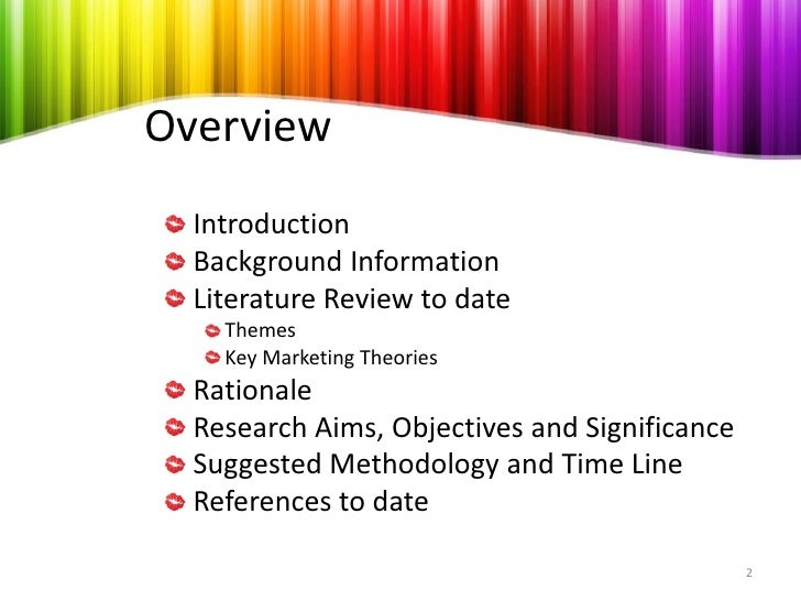 Example of A Literature Review Structure