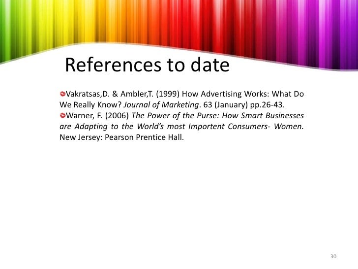 vakratsas ambler 1999 In their seminal work addressing this issue, vakratsas and ambler (1999) review over 250 articles and books, establishing a taxonomy of models of advertising, based on three key consumer-response.