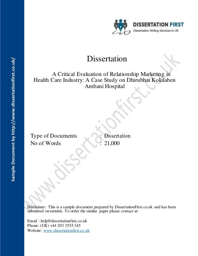 dissertations on relationship marketing