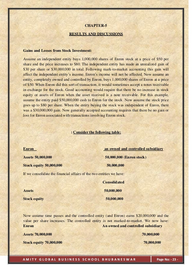 an analysis of enron Enron ethics case analysis prepared by: simardeep sran – 211689444 due: september 12, 2014 unit: maa350.