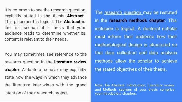 Master thesis research questions business assignment help