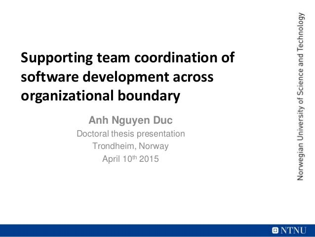 supporting team coordination of software development across multiple
