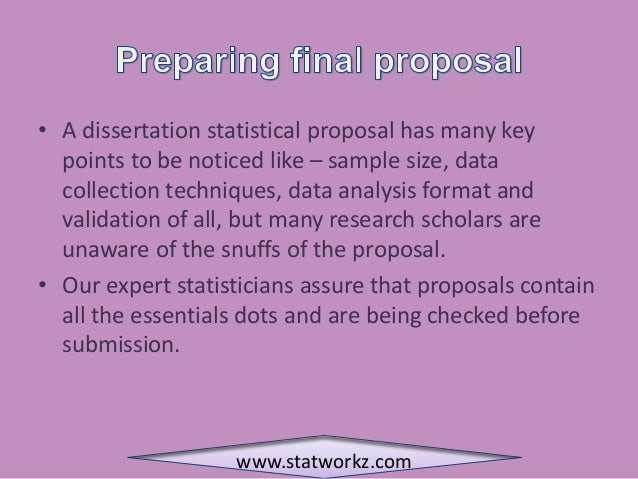 Masters dissertation objectives