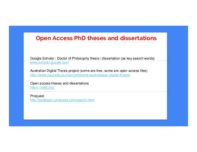 Digital dissertation australia