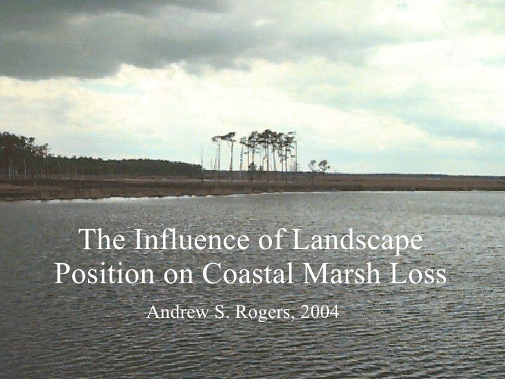The Influence of Landscape Position on Coastal Marsh Loss Andrew S. Rogers, 2004