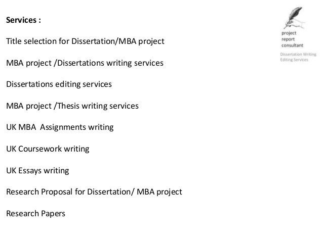 Dissertation statistical service quality