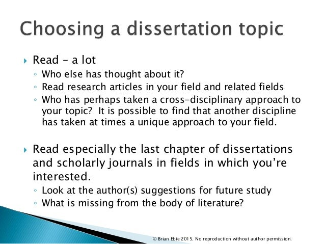 Dissertation ideas