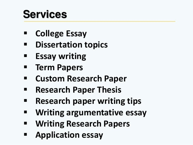 College term paper subjects