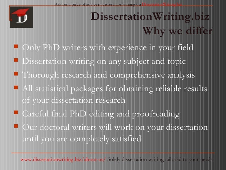 Dissertation writing services reviews reliable