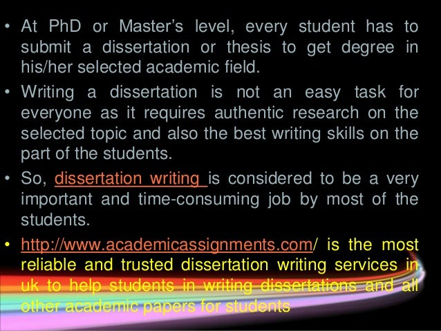 Australian Dissertation Writing Service