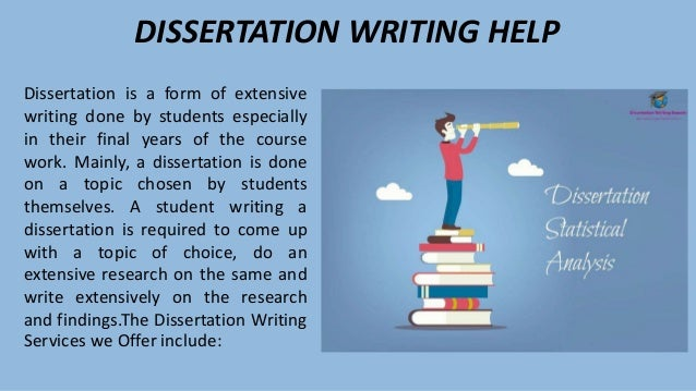 Dissertation advice writing
