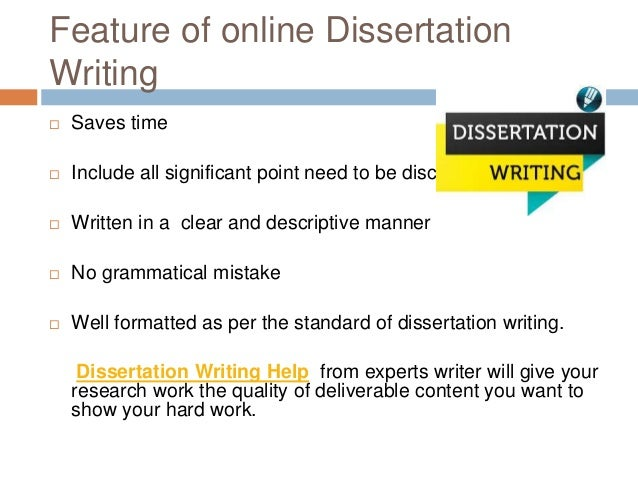 Writing dissertation help