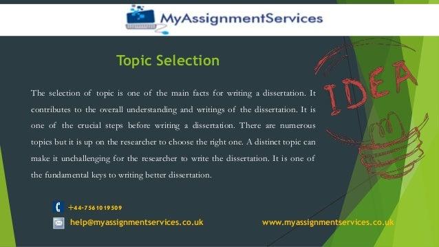 Help writing dissertation uk