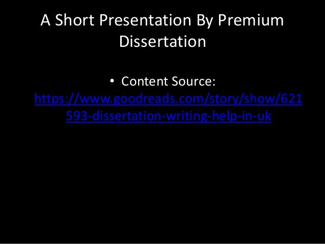 Help with dissertation uk