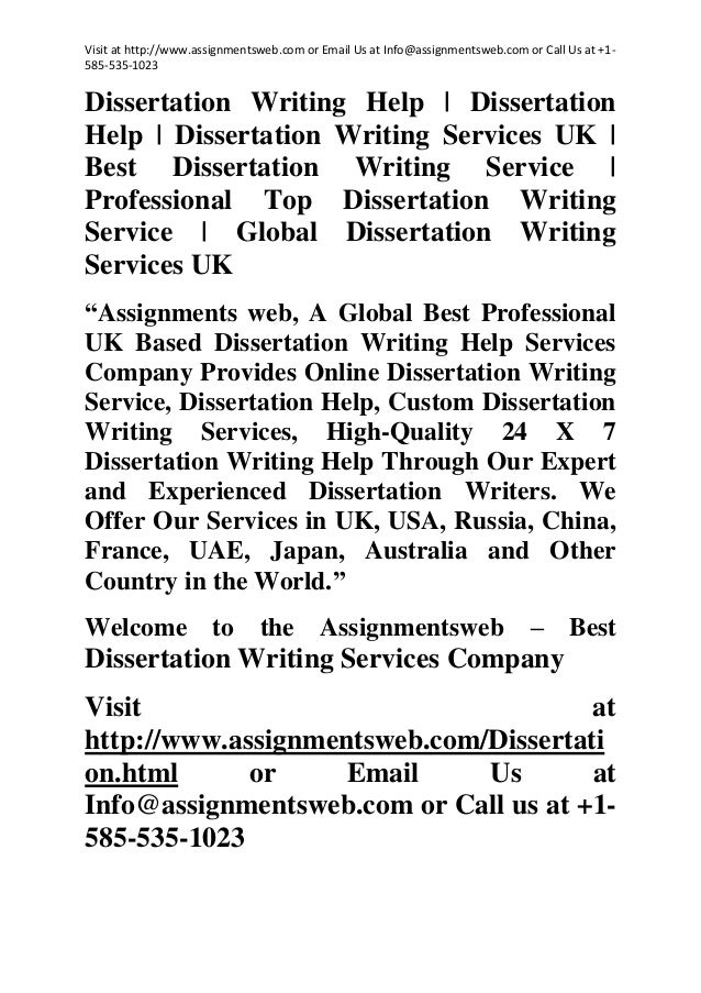 Dissertation writing service usa oxford