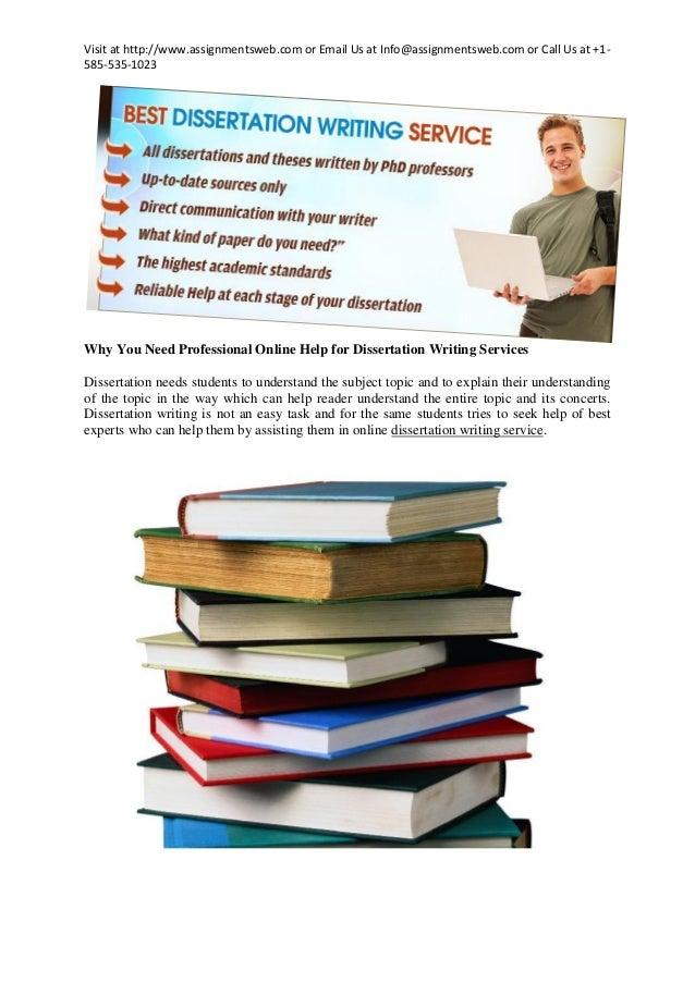 Online dissertation help need
