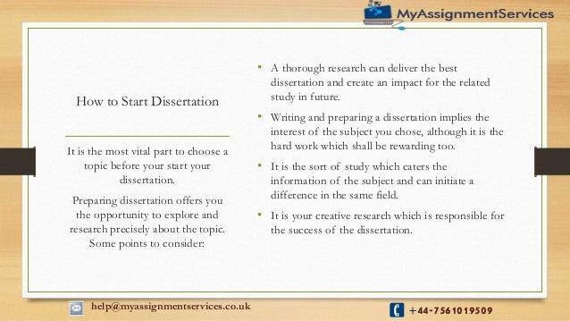 Dissertation help experts