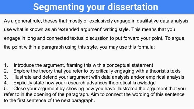Dissertation writing style