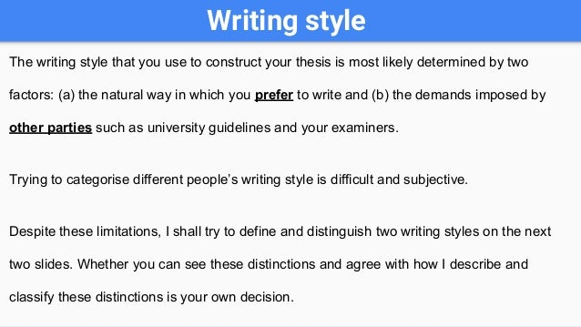 types of thesis statements