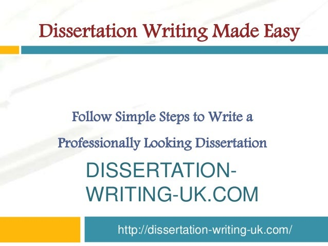 writing a dissertation uk