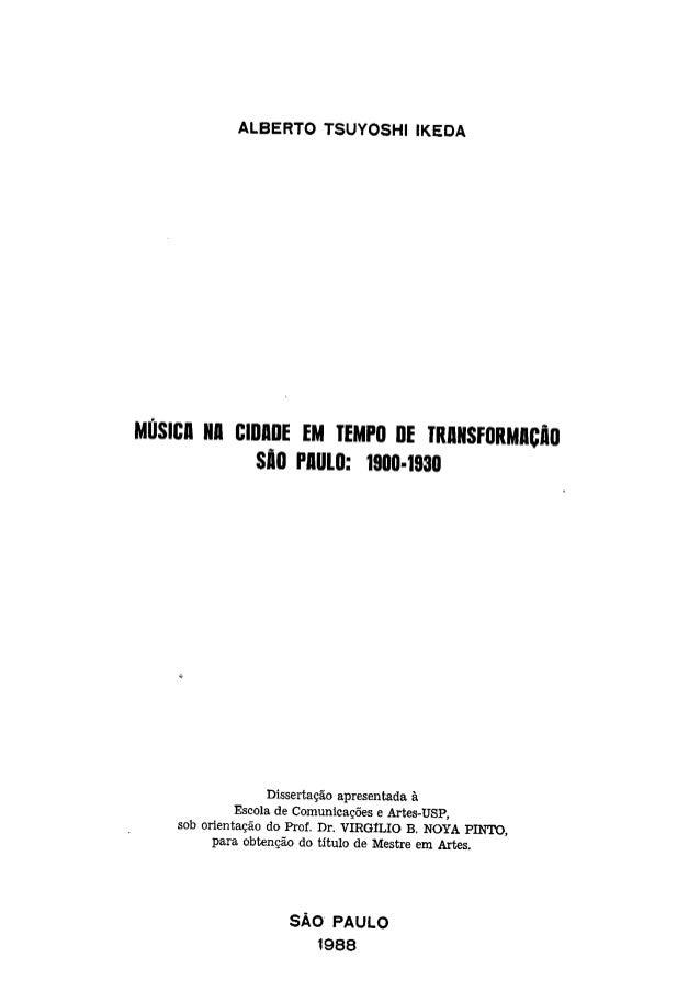 Dissetacao ikeda - Musica na cidade em tempo de transformação (1998)