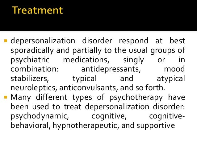 depersonalization disorder case study