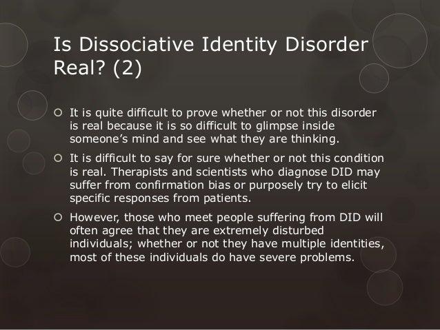 Case study on dissociative identity disorder sample.