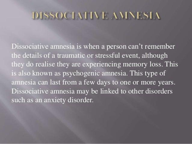 a case study on the dissociative amnesia of irene upton